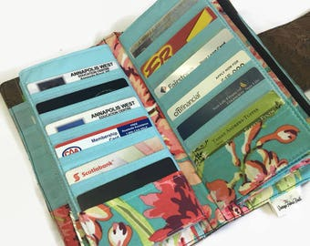Women's Wallet, Floral Wallet, Credit Card Holder, Cash Envelopes, Coupon Organizer, Dave Ramsey, Travel Wallet, Money Envelopes, Lrg Wallet