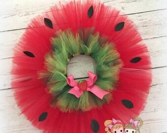 Strawberry tutu - strawberry themed tutu - birthday tutu - costume tutu - strawberry costume - strawberry shortcake tutu - red tutu
