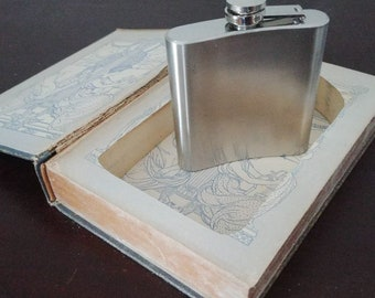 Book safe, Secret Book with Hidden Compartment - Flask Included
