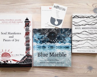 Soul Book Bundle - 3 books written by Steve Thorp & Illustrated by Ruth Thorp  / meditation / reading / earth / environment / wellbeing