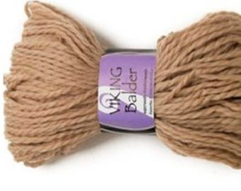 SALE 40% Off Superwash Wool Viking Balder by Viking Garn  #407 - Light Beige  / 1x100g / 3.52oz