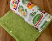 Cloth UnPaper Towels Farmers Market  Flannel and Terry Cloth Set of 10