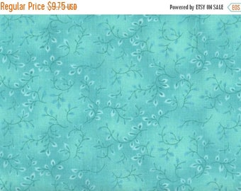 ON SALE Teal Blue Floral Fabric, Folio by Henry Glass & Co Fabric, Floral Fabric, Turquoise Floral Fabric, 1 yard fabric, 01422