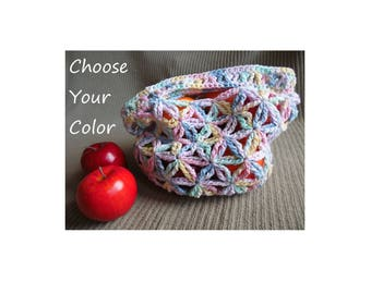 Small Market Bag, Star Pattern - USA Grown Custom, Color Choice Shipping Included