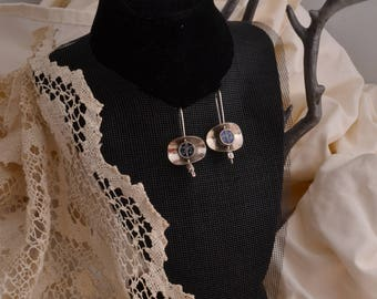 Sterling Silver with blue Earrings