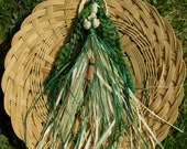 Handmade Earth Mother Goddess / Hedge Witch Corn Dolly.  Pagan Wiccan Lammas Rituals New Beginnings .