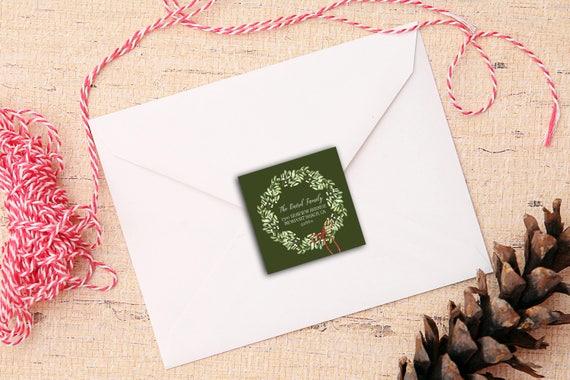Mistletoe Kisses Address Labels -  Return Address Christmas - 2 inch square