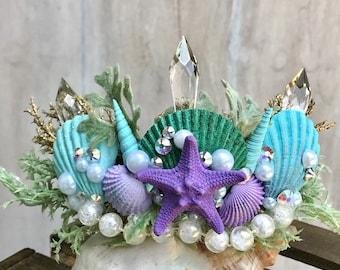 Mermaid Crown - Mermaid Party - Birthday Party - Bachelorette Crown - Bachelorette Party - Flower Girl.