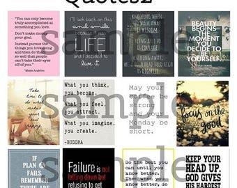 Quote, #1-2, Planner Stickers, Motivation, Inspiration, Full Box, Flamingo, Light, Horizontal, ECLP, Plum Paper Planner