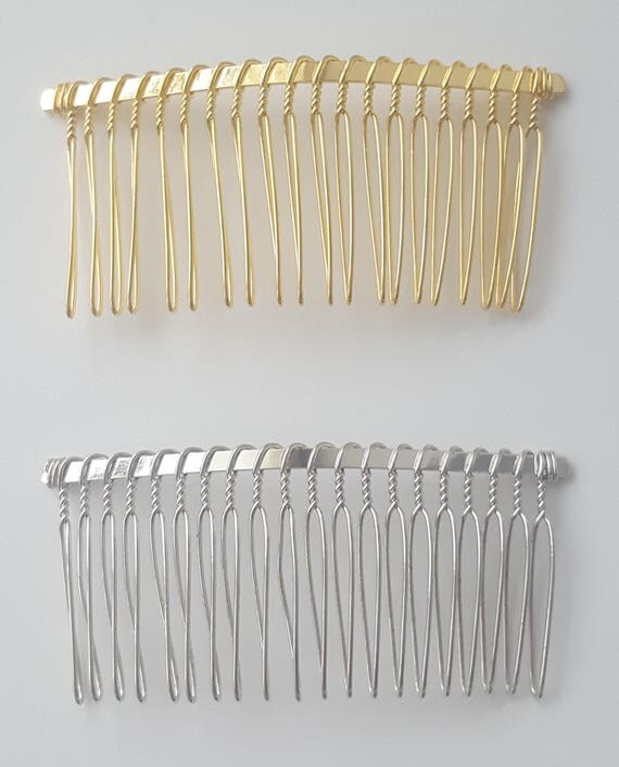 GOLD/SILVER HAIR Comb | Hair Accessories, wedding veils, metal combs