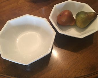 Johnson brothers dishes,lot of 2,Heritage Johnson brothers, made in England, serving bowls, white dishes, servingware, antique large bowls