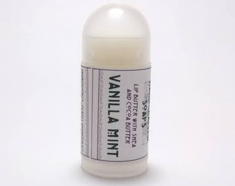 Vanilla Mint - Mini Lip Balm with Shea Butter and Cocoa Butter