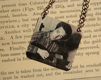 Woody Guthrie Jewelry Folk Music Peace Jewelry mixed media jewelry