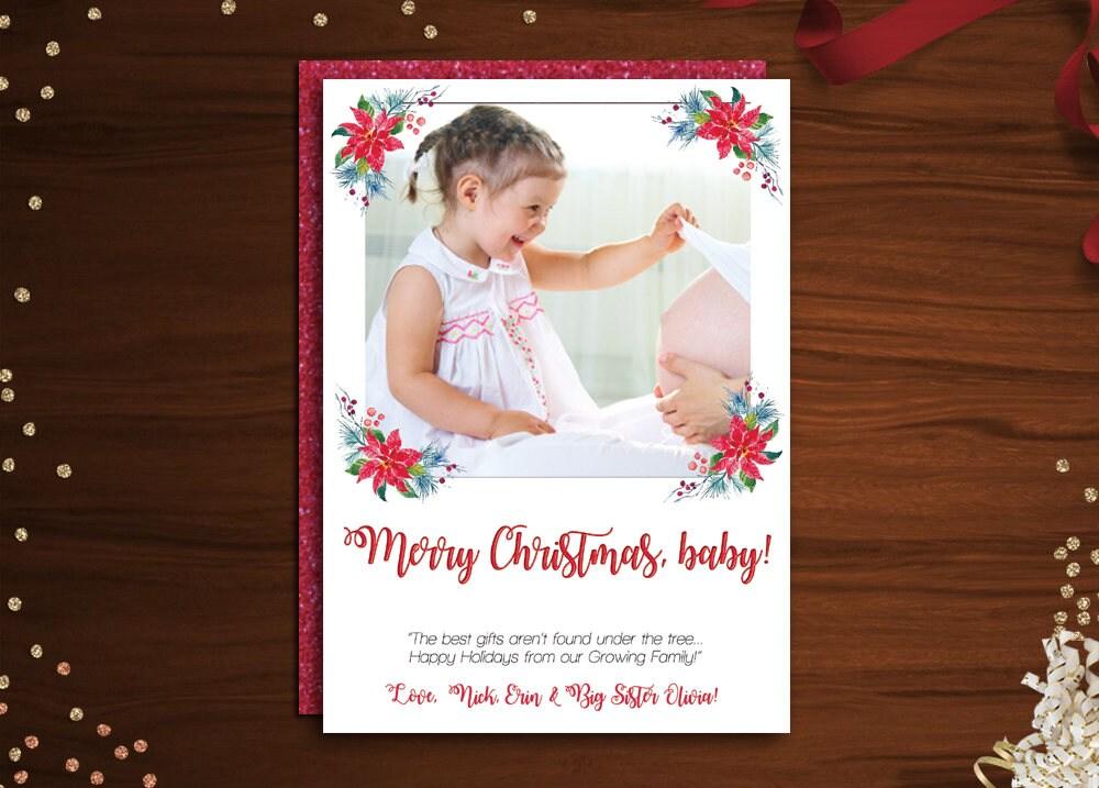 Pregnancy Announcement Christmas Cards. card design ideas pregnancy ...