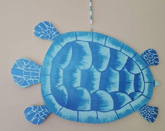 Sea Turtle Wall Art, Door Hang, hand crafted,hand cut wood,hand painted! Or have yours custom made w/ any color combo!