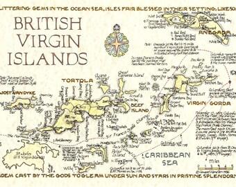 Magnet Brtish Virgin Islands in Two Sizes