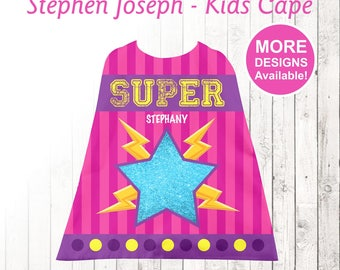 Super Star Kids Cape, Personalized Cape, Little Girls Cape, Stephen Joseph Cape, Youth Cape, Super hero