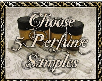 SALE Perfume Oil Samples: Choose Five (5) 1mL or 2mL Samples, Perfume Oil, Cologne Oil, Artisan Fragrance, Ships Out in 5-7 Days