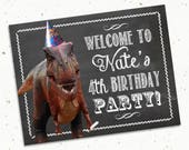 "Dinosaur Birthday Party Door Sign -- 8.5x11"""