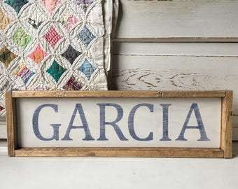 Hand painted Name Sign