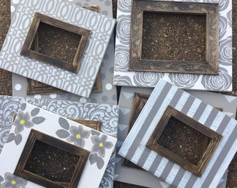 Handmade Grouping of 7 Picture Frames