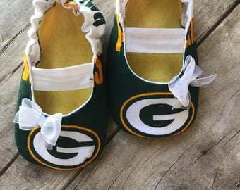 Green Bay Packers Baby Maryjane Booties