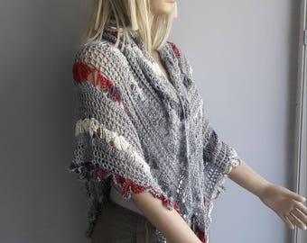 Paradise - Wedding Shawl / Bridal Shawl / Crochet Shawl / Triangular Shawl / Spring Summer / Winter shawl if made with winter yarn