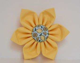 Lemon Dog Flower Aqua Blue Mint Yellow Summer Collar Wedding Accessories