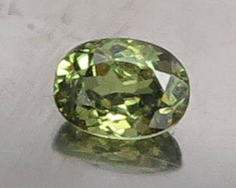 0.58 Ct Natural Demantoid Garnet Green Yellow Unheated Small