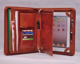 ipad pro 12.9''  ipad folio ipad cases Top-level Multi-functional leather iPad case as your iPad  pro 12.9'' portfolio in Wax brown