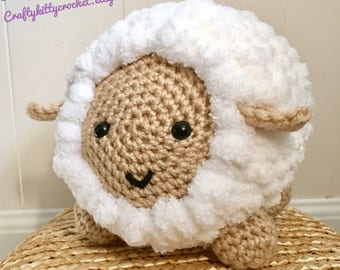 READY TO SHIP Stuffed Sheep / Lamb - Amigurumi, Toy, Plush