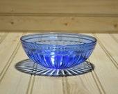 Vintage Hazel Atlas Aurora Cobalt Blue Cereal Bowl Depression Glass Collectible TV Movie Prop