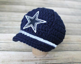 Dallas Cowboys Baby Infant Cap Hat Beanie, Knitted / Crochet, Baby Gift / Newborn Photo Prop, Football, NFL