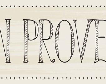 """Buen Provecho White Spanish Home decor kitchen sign, Hand  Written Kitchen Sign, Spanish Kitchen Decor 18""""x7  1/4 """""""