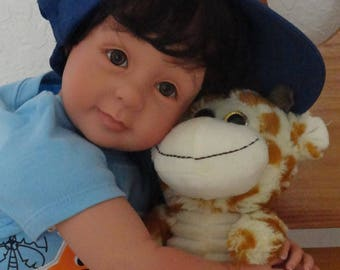"22"" Reborn Baby/Toddler Boy Doll ""Tyler - Safari Fun w Giraffe"""