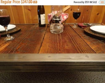 """Limited Time Sale 10% OFF 30""""x 48"""" Industrial Dining Table, Antique Barn Wood, Raw Steel Edge, Hairpin legs"""