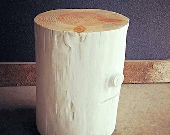 Limited Time Sale 10% OFF White Stump Tables