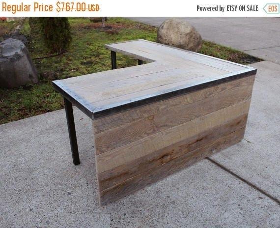 limited time sale 10 off custom l shaped industrial desk. Black Bedroom Furniture Sets. Home Design Ideas