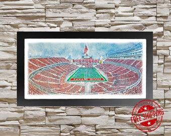 Ohio State Buckeyes stadium art print  Alumni  Gift