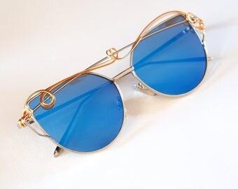 Blue Decorated sunglasses