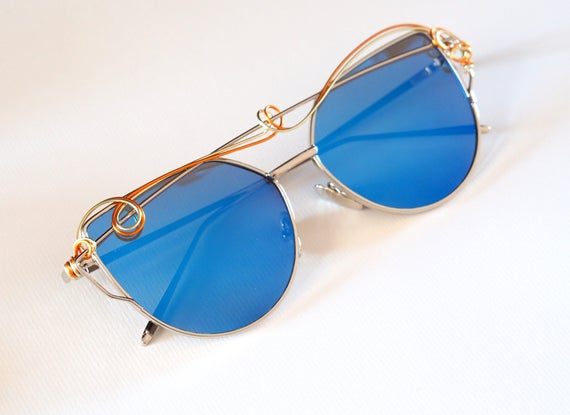Blue Decorated sunglasses