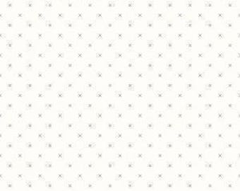 Bee Backgrounds Cross Stitch Gray C6381 by Lori Holt - Riley Blake Designs