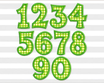 Coupon Codes!  Birthday Numbers Set Applique Machine Embroidery Design 4 sizes BS007