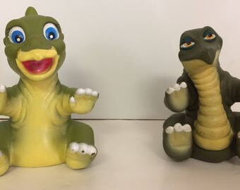 1988 Pizza Hut Land Before Time Dinosaur Puppets Ducky & Spike