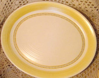 Vintage Franciscan Hacienda Serving Platter in Yellow