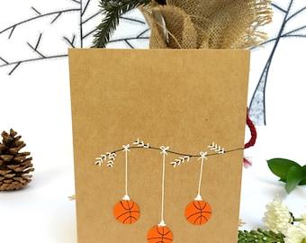 Basketball Christmas Card, basketball card, basketball gift, basketball player, basketball mom, holiday card, Christmas card, greeting card