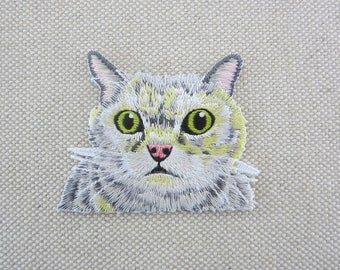 Iron-on Patch, Cat Patch, Embroidered Patch for Jeans, Shoes, Bags