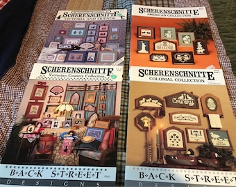 4 Scherenschnitte Back StreetDesigns Books