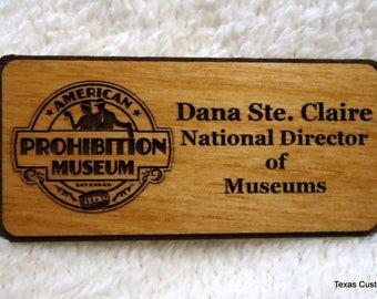 Custom Wood Name Badges, Custom Wood Name Tags, Personalized Wood Name Badges, Personalized Wood Name Tags, ID Tags, ID Badges