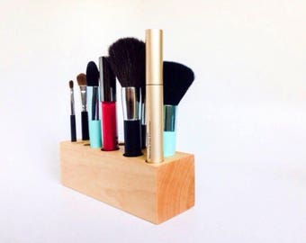 Wooden Vanity Makeup Holder Bridesmaid Gifts
